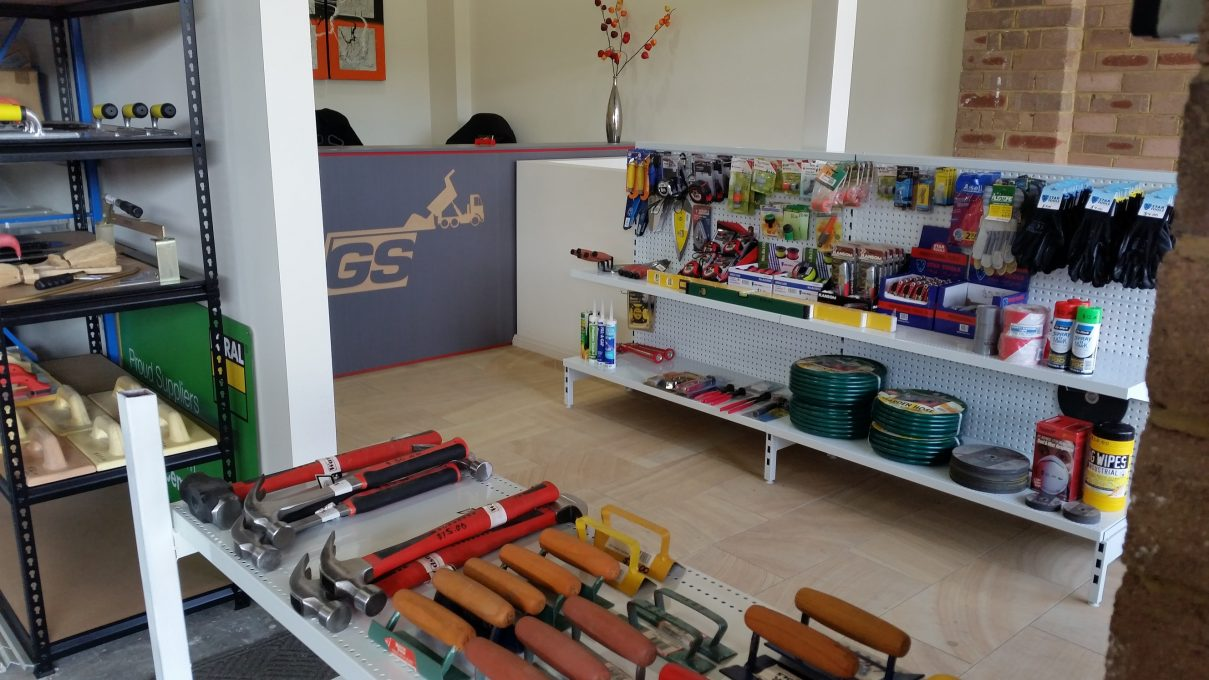 Sand and Cement - Our counter area and tools display