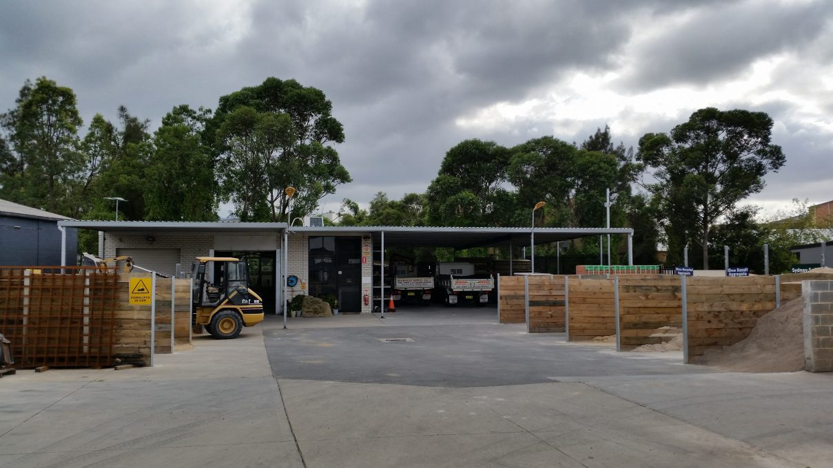 Our tidy sand and cement yard
